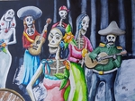 Dead musicians at the wedding - Aquarell 30 x 40 cm